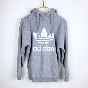 Adidas Trefoil Logo Detailed Hoodie Sweatshirt